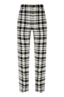 Трикотажные клетчатые брюки Balenciaga