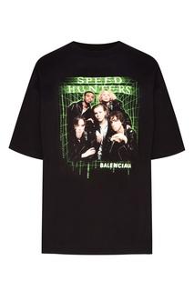 Черная футболка Speedhunters Balenciaga