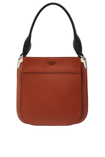 Коричневая кожаная сумка Margit Prada