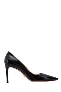 Черные туфли из сафьяновой кожи Prada