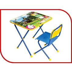 Набор мебели Nika Познайка стол стул Ловись рыбка Маша и Медведь (КНП2-0282КП2/5)