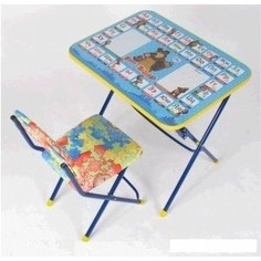 Набор мебели Nika Познайка стол стул позвони мне Маша и Медведь (КНП2-0282КП2/6)