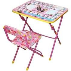 Набор мебели Nika Умничка стол стул Азбука 3 Маша и Медведь (КНУ1-0283КУ1/3)