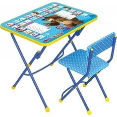 Набор мебели Nika Умничка 1 Стол-Стул Английская азбука Маша и Медведь