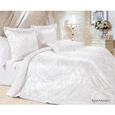 Комплект постельного белья Ecotex Евро, сатин-жаккард, Бриллиант (КЭЕБриллиант)