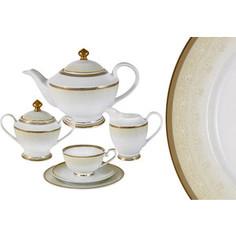 Чайный сервиз 23 предмета на 6 персон Midori Вуаль кремовая (MI2-K6981-Y3/23-AL)