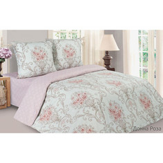 Комплект постельного белья Ecotex семейный, поплин, Поэтика Донна роза (4650074959801)