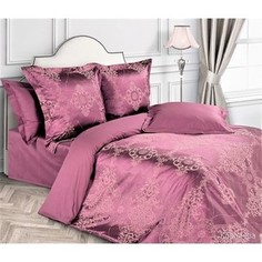 Комплект постельного белья Ecotex евро, сатин-жаккард, Эстетика Королева (4650074957081)