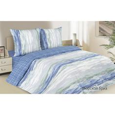 Комплект постельного белья Ecotex евро, поплин, Поэтика Морской бриз (4660054340246)