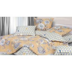 Комплект постельного белья Ecotex семейный, сатин, Гармоника Белый шиповник (4660054340802)