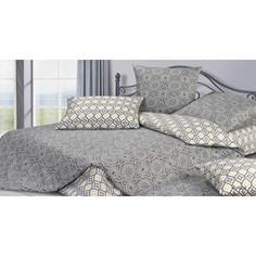 Комплект постельного белья Ecotex евро, сатин, Гармоника Аиша (4660054340918)