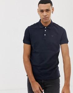 Темно-синяя футболка-поло с логотипом Emporio Armani - Темно-синий