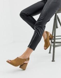 Светло-коричневые повседневные сандалии на блочном каблуке с ремешком через пятку Faith Dani - Рыжий