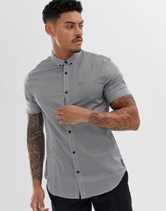 Темно-синяя рубашка с короткими рукавами и логотипом Armani Exchange - Темно-синий