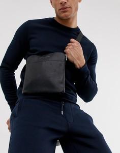 c05b7a6075b76 Черная сумка из искусственной кожи с логотипом Armani Exchange - Черный