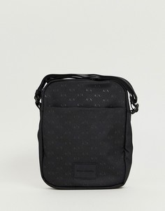 Черная нейлоновая сумка для авиапутешествий с логотипом Armani Exchange - Черный