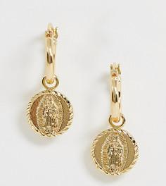 Позолоченные серьги-кольца Rock N Rose - Золотой