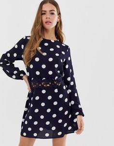 8ea2484e6d5 Платье мини в горошек AX Paris - Темно-синий