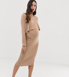 Платье миди 2-в-1 Bluebelle Maternity - Розовый