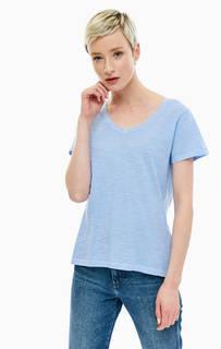 Хлопковая футболка с треугольным вырезом Gant
