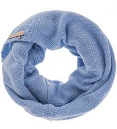 Шерстяной шарф-хомут синего цвета Noryalli