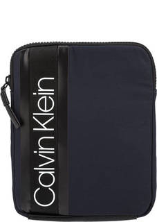 Текстильная сумка через плечо с логотипом бренда Calvin Klein Jeans