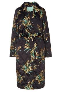 Утепленное пальто с цветочным мотивом Akhmadullina Dreams