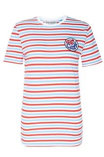 Полосатая футболка с круглой нашивкой Être CÉcile