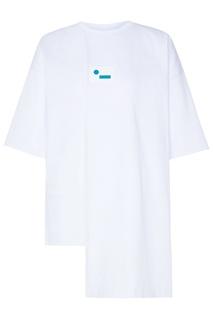 Асимметричная хлопковая футболка с логотипом