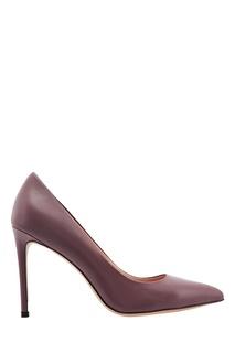 Лиловые кожаные туфли Portal