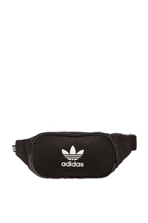 Компактная черная поясная сумка с логотипом Adidas
