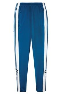 Бело-синие спортивные брюки Adibreak Adidas