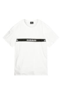 Черно-белая футболка Sagar Napapijri