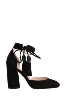 Черные туфли с кистями Portal