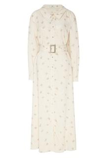 Платье-рубашка с поясом Laroom