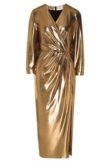 Золотистое платье с драпировкой Laroom