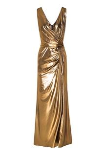 Золотистое платье Laroom