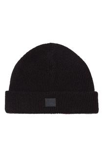 Черная шапка с нашивкой Acne Studios