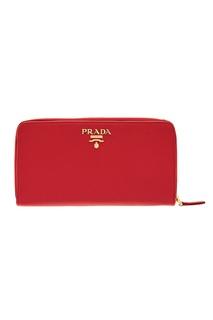 Прямоугольный кожаный кошелек Prada
