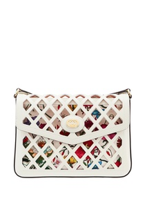 Комбинированная сумка на плечо Gucci