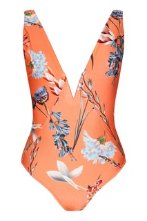 Оранжевый купальник с цветочным принтом Salinas