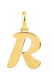 Позолоченная подвеска с буквой R Lav`Z