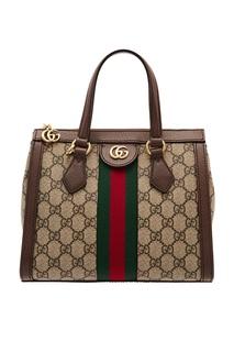 Компактная сумка-тоут Ophidia с монограммами GG Gucci