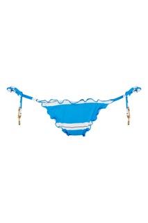 Голубые плавки от купальника в полоску Salinas