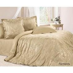 Комплект постельного белья Ecotex Евро, сатин-жаккард, Пастораль(КЭЕПастораль )