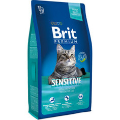 Сухой корм Brit Premium Cat Sensitive with Lamb с ягненком для кошек с чувствительным пищеварением 8кг (513215) Brit*