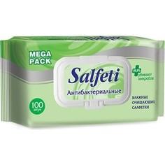 Антибактериальные влажные салфетки Salfeti Авангард antibac mega pack с клапаном, 100 шт.