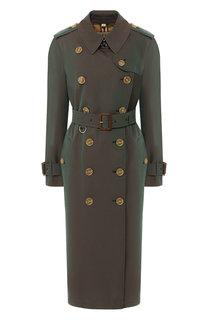 Хлопковое пальто с поясом Burberry