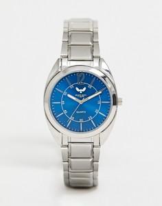 Мужские часы с синим циферблатом Brave Soul - Серебряный