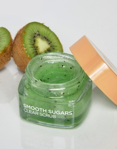 Разглаживающий сахарных скраб для лица и губ LOreal Paris 50 мл - Зеленый Loreal